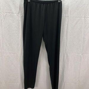 Cuddl Duds Climate Right L Black Ladies Pants PJs